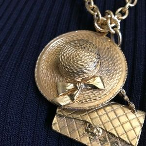 CHANEL Jewelry - CHANEL Iconic Necklace With Quilted bag And Straw